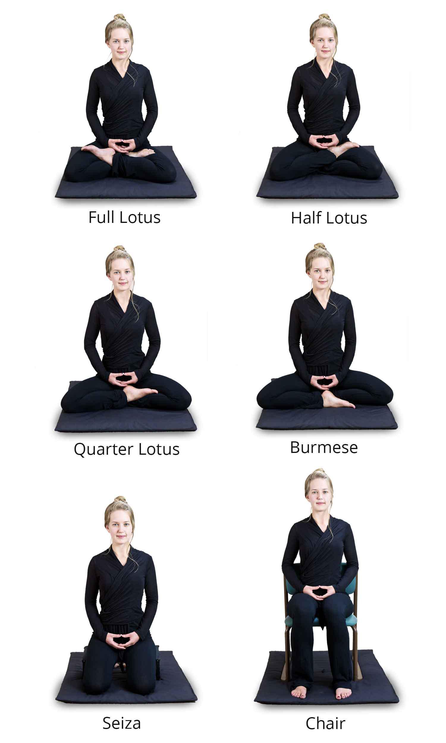 Meditation Postures N Lightenment